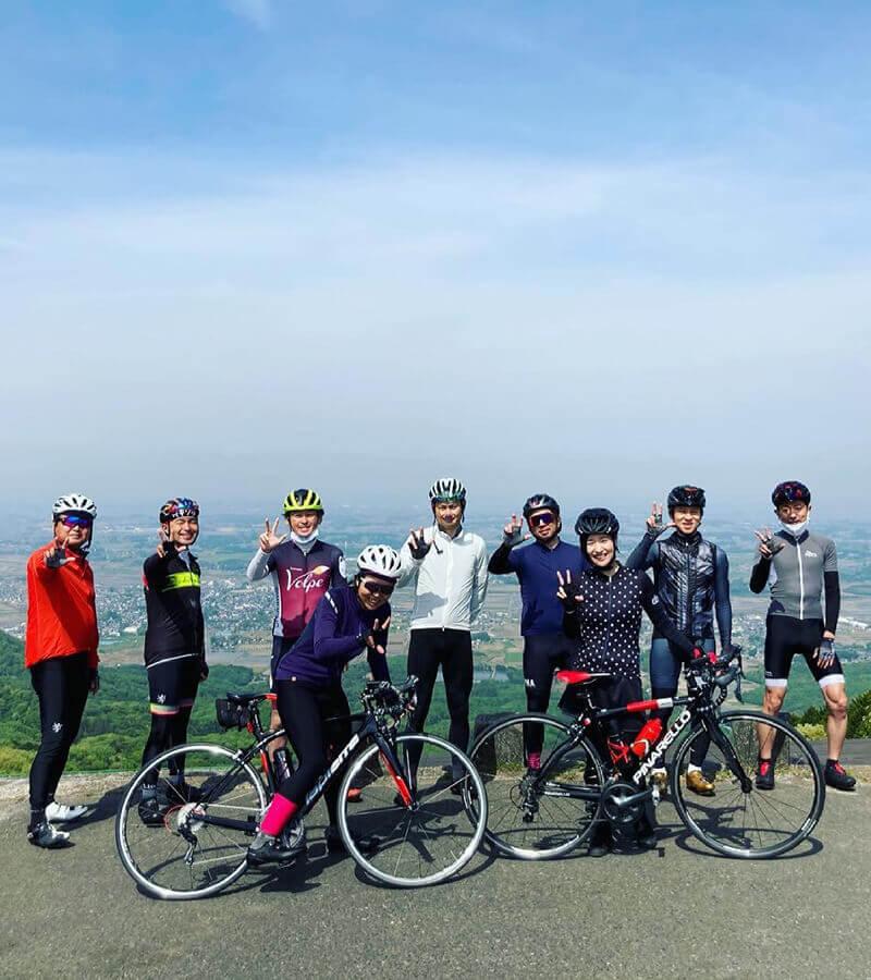 日曜サイクリングの様子